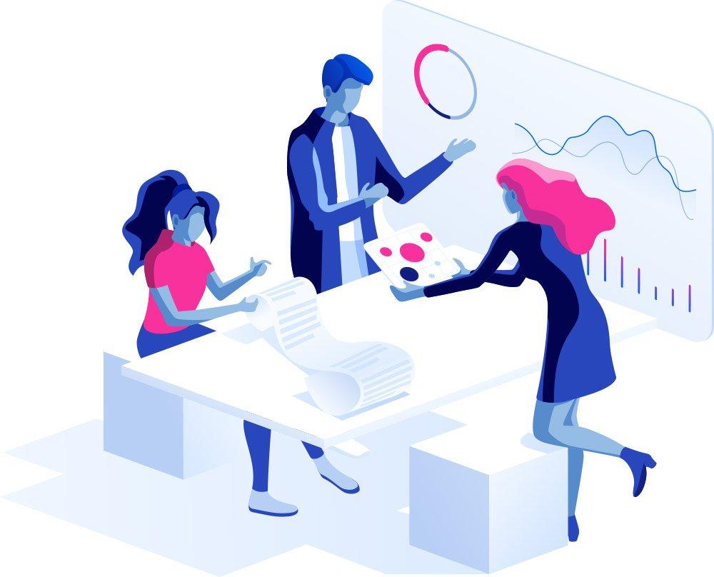 Kundengespräch Datenanalyse
